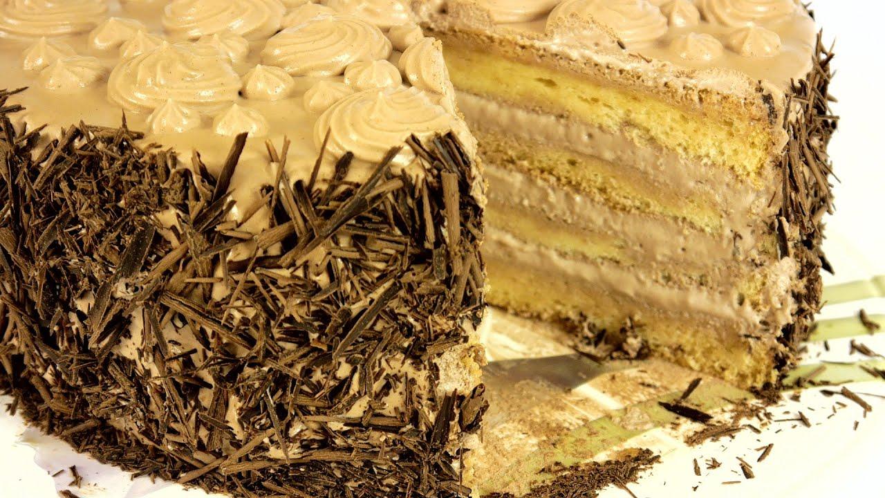 Легкий торт в домашних условиях с кремом