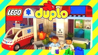 Toys LEGO Duplo Hospital with Ambulance and doctors unboxing, Legos Duplo blocks sets in Lego videos