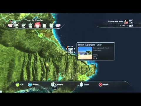 Test Drive Unlimited 2 All Hawaii Tuning Shops Location