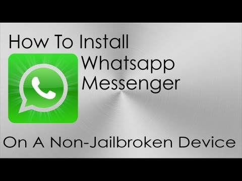 How To Install WhatsApp On iPod Touch And iPad W/O JB