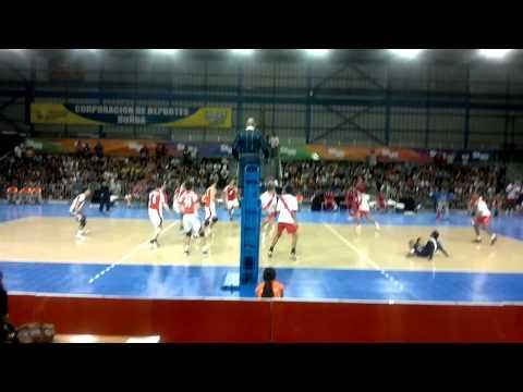 Chile x Peru Tercer Set 1era Parte Voley Masculino Juegos Sudamericanos 2014