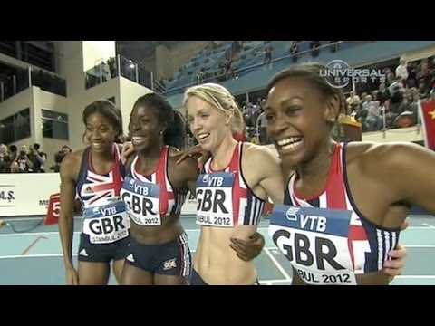 W 4x400 F01 (Great Britain defeats USA at World Indoors 2012)