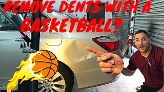 Huge Honda Accord Dent Removed Using A Basketball🏀?