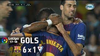 download lagu Gols - Barcelona 6 X 1 Eibar - La gratis