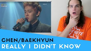 Voice Teacher Reacts to Chen & Baekhyun - Really I Didn't Know