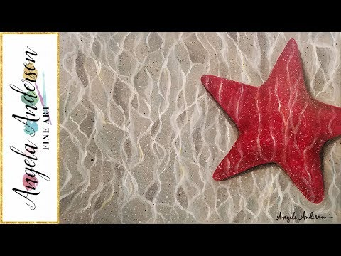 Starfish Underwater Acrylic Painting Beginner Step by Step Tutorial LIVE