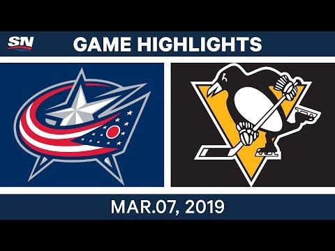NHL Highlights | Blue Jackets Vs. Penguins – Mar 7, 2019