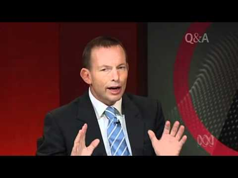 Tony Abbott talks about gay marriage on Q&A
