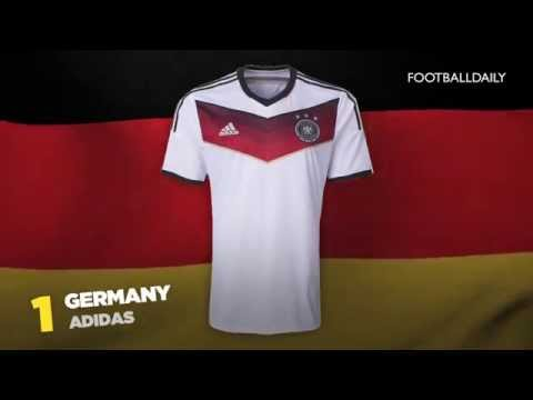 Top 10 2014 World Cup Kits