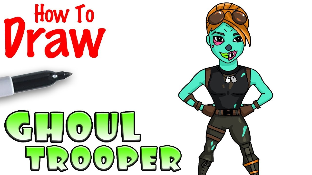 How To Draw The Ghoul Trooper Fortnite