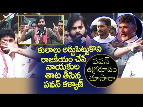 Pawan kalyan Fires On Chandrababu and YS JAGAN Over Caste politics | Janasena Party Latest News