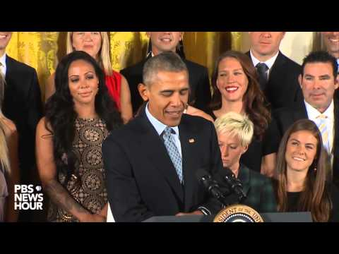 Obama honors U.S. women's soccer team for World Cup victory