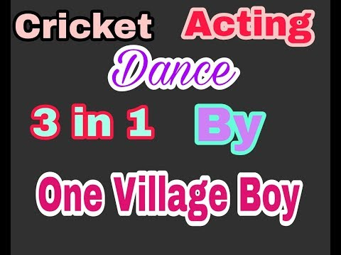Cricket Acting Or Dance  3 In    1 By One Village Boy || Sports Dance or entrainment all in one