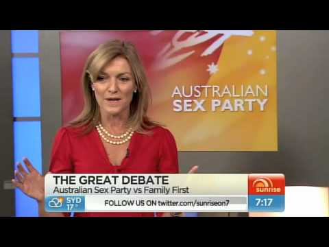 Sex Party v Family First debate sunrise