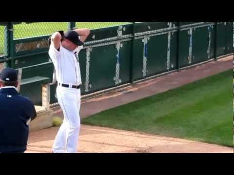 Max Scherzer - Detroit Tigers Pitcher - Warming Up