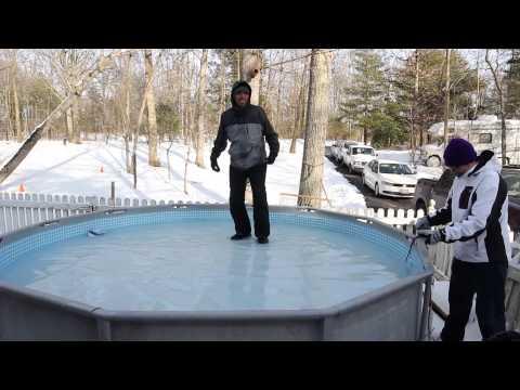 Branden Falling Through Ice