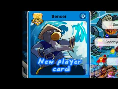 Club Penguin - Meeting Sensei ~ Water Dojo November 2010