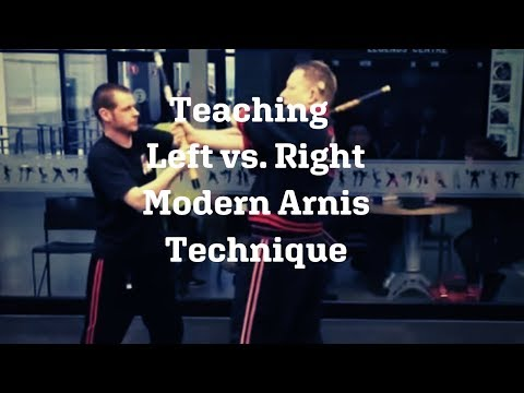 Teaching Left vs  Right Modern Arnis Technique Image 1