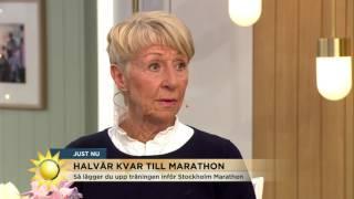 Så laddar du bäst inför maraton - Nyhetsmorgon (TV4)