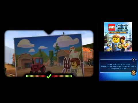 LEGO City Undercover (3DS): The Chase Begins - All 28 Postcard Locations