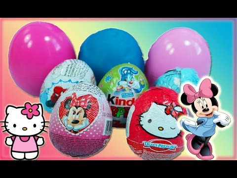Spiderman Play Doh Peppa Pig Kinder Surprise Eggs Hello Kitty Frozen egg