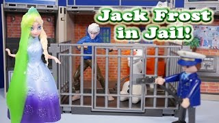 FROZEN Disney Elsa Causes Jack Frost to go to Jail a Disney Frozen Video Parody