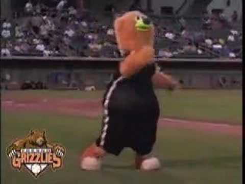 Mascot Evolution of Dance - Parker of the Fresno Grizzlies Video
