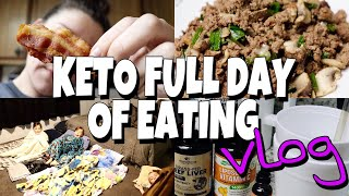 KETO Diet Full Day of Eating & My Current Supplement Spread