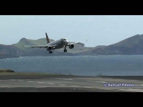 Aborted Landing || strong winds || various landings || Madeira