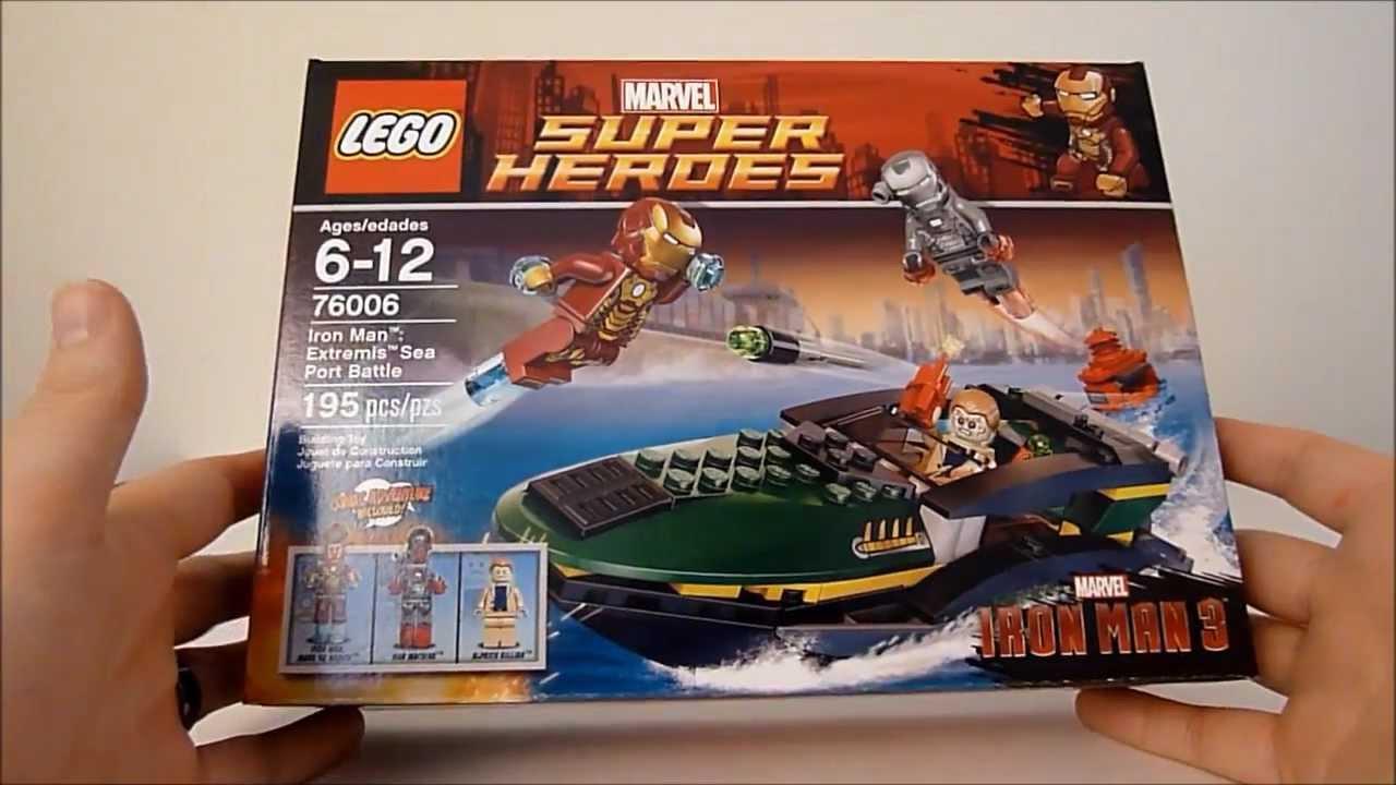 Lego 76006 iron man extremis sea port battle youtube - Lego iron man extremis sea port battle ...