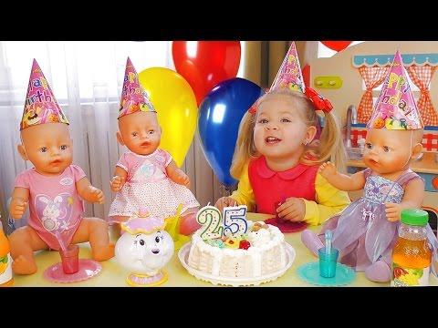 Празднуем День Рождение Куклы Беби Бон - МНОГО ПОДАРКОВ и Торт Видео для Детей