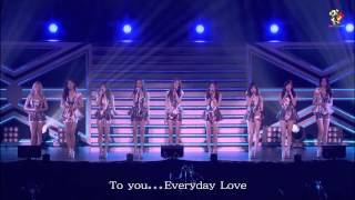 【繁體中字】少女時代 Girls' Generation (SNSD) -  Everyday Love (橫濱FREE LIVE)