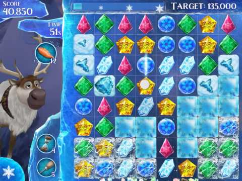 Frozen Free Fall Level 181 Live Action Play Walkthrough