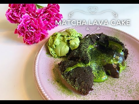 MATCHA RECIPE I Matcha Lava Cake I Tutorial