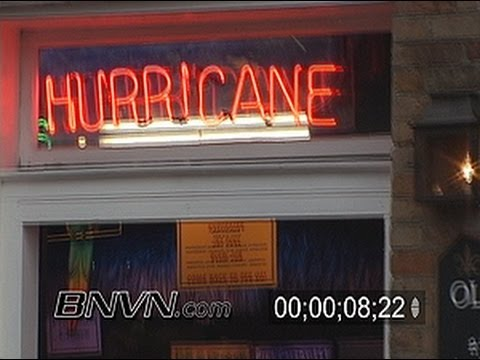5/4/2006 Downtown New Orleans, LA in the rain stock news footage