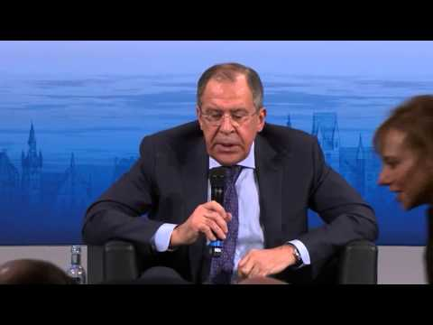 Europeans Laugh as Lavrov Talks Ukraine In Munich. (English)