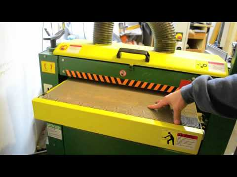 Tool Review: Woodtek 25 inch Drum Sander from WoodWorkers Supply belt thickness sander