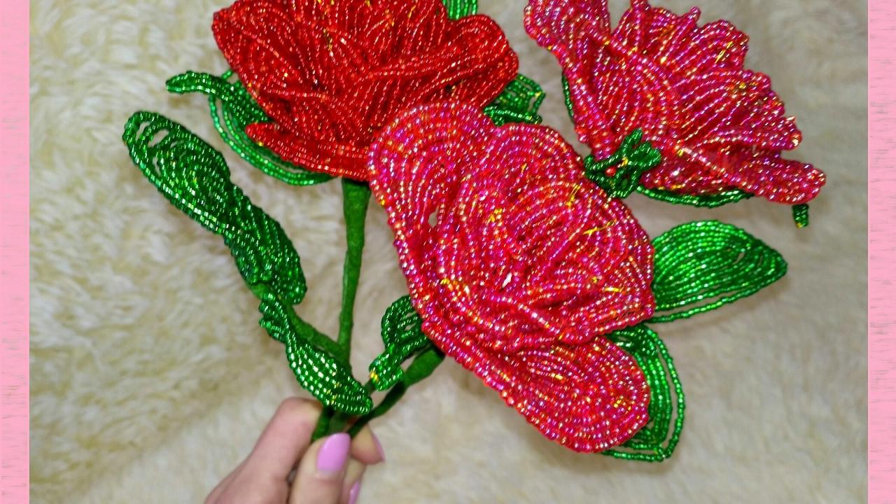 Цветы из бисера своими руками на подарок 98