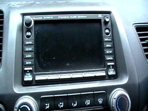Cant Unlock The Honda Navigation Wrong Code Youtube