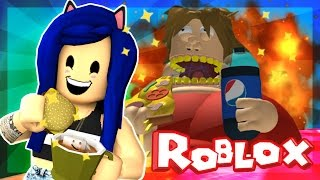 Roblox Obby - WE ESCAPE THE GIANT EVIL FAT MAN! | ItsFunneh
