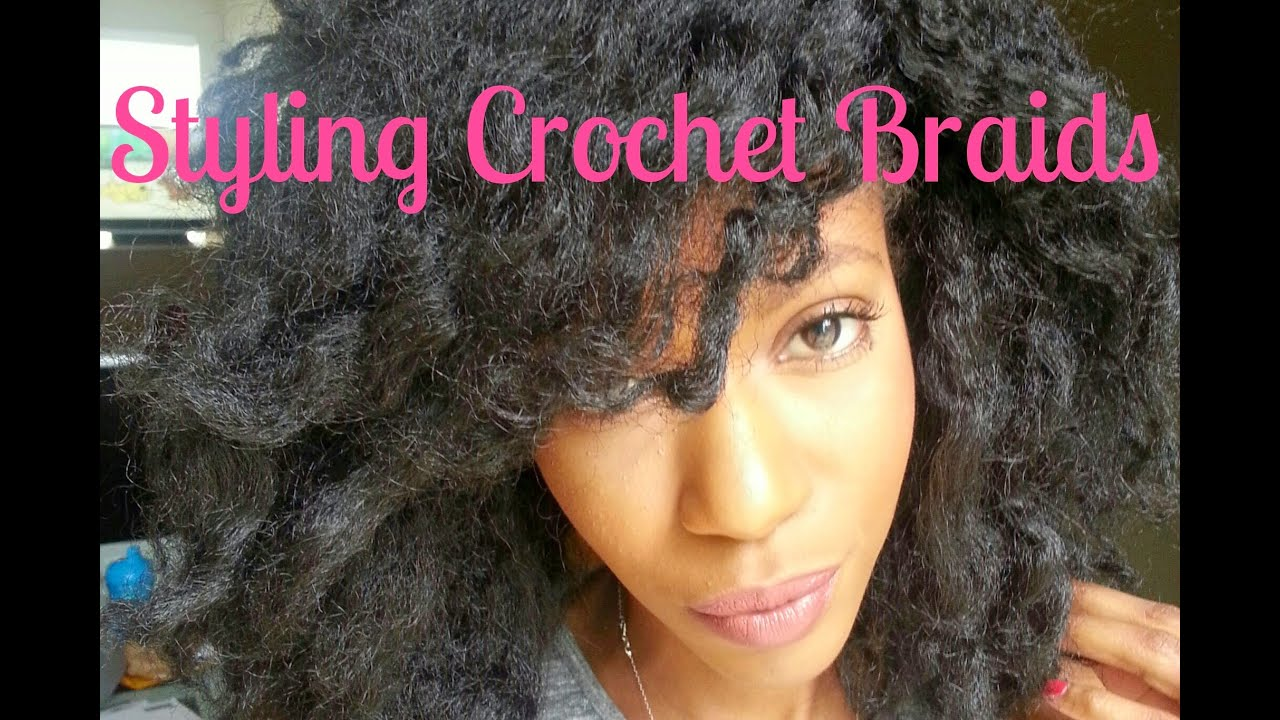 Tutorial: How I style my Crochet Braids - YouTube