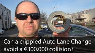 Can a crippled Tesla AutoPilot 2.0 still avoid a €300.000 collision in v9? - Testing The Tesla