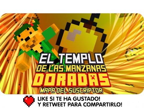 EL TEMPLO DE LAS MANZANAS DORADAS!   Minecraft Mapa del Suscriptor