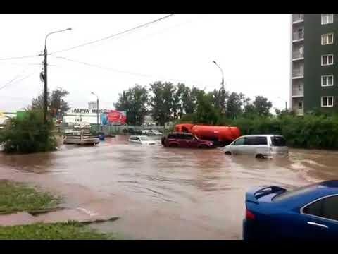 Наводнение в Красноярске 20 08 2017