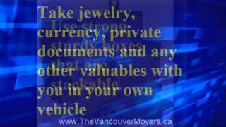 Moving Tips Vancouver Movers Priority 1 Moving Be Prepared Save Time and Money