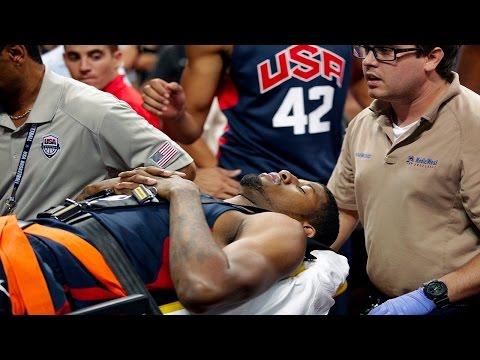 Paul George Breaks Leg During Team USA Practice - ESPN