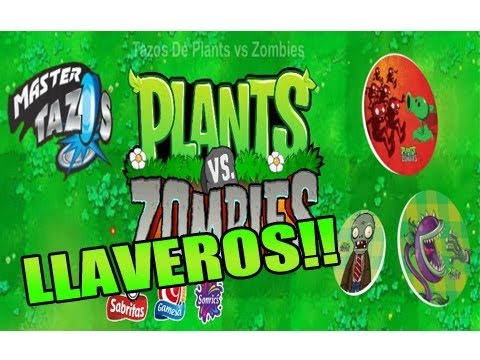 Llaveros Plantas vs Zombies Gamesa