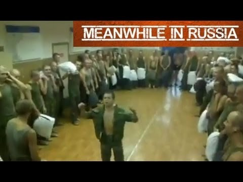 Pillow Fight in Russian Army