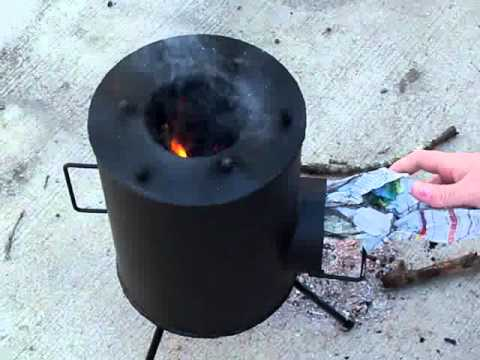 Grover Rocket Stove - survival tool  - a review and cooking breakfast