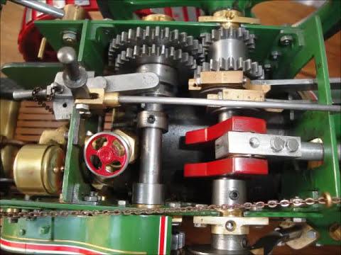 Tractor a vapor Minnie construcción paso a paso